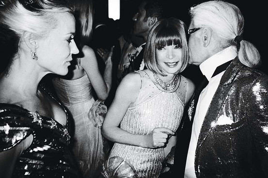 Anna Wintour and Karl Largerfield