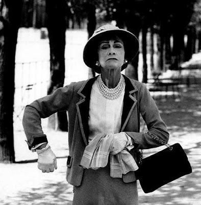 Coco Chanel Black and White photo