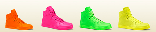 GUCCI Neon High-Top Sneakers