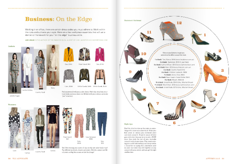YLC Advocate Autumn 2013 issue Statement footwear Business on the edge