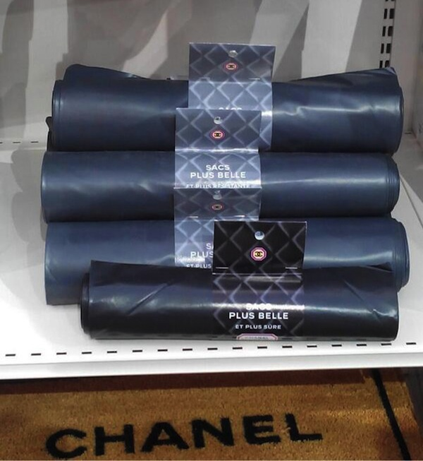 Chanel black saks